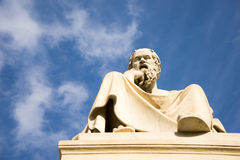 Marble statue of the ancient Greek Philosopher Socrates. Stock Photos