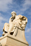 Marble statue of the ancient Greek Philosopher Socrates. Royalty Free Stock Photo