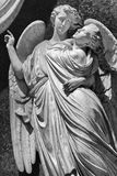 Marble statue of angellic couple in Florence, Italy Royalty Free Stock Images