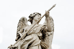 Marble statue of angels in rome, italy Royalty Free Stock Image