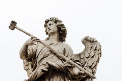 Marble statue of angels in rome, italy Royalty Free Stock Photos