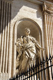 Marble statue in basilica Saint Peter outside, Vatican Rome, It Royalty Free Stock Image