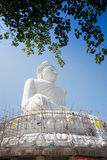 The marble statue of Big Buddha in Phuket Royalty Free Stock Images