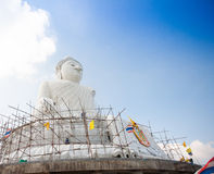 The marble statue of Big Buddha in Phuket Stock Images