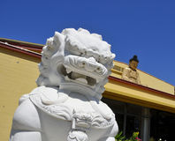 Marble Statue at Buddhist Temple Stock Photos