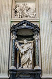 A marble statue disciple of Jesus the Apostle of St. Bartholomaeus Basilica di San Giovanni in Laterano in Rome, capital of Italy. Roma, Italy - October 2015: A Stock Photography