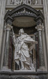 Marble statue disciple of Jesus the Apostle of St. James the Gre. Ater by Rusconi in Basilica di San Giovanni in Laterano & x28;St. John Lateran basilica& x29 Royalty Free Stock Image
