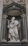 Marble statue disciple of Jesus the Apostle of St. James the Les. Ser by de Rossi in Basilica di San Giovanni in Laterano & x28;St. John Lateran basilica& x29 Stock Photography