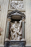 A marble statue disciple of Jesus the Apostle of St. Philippus in Basilica di San Giovanni in Laterano in Rome, capital of Italy Stock Images