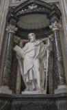 A marble statue disciple of Jesus the Apostle of St. Simon in Ba. Silica di San Giovanni in Laterano & x28;St. John Lateran basilica& x29; in Rome. Rome, Italy Stock Image