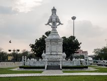 Marble Statue of Elephant  At Ratchadamnoen Road, Bangkok, Thai Royalty Free Stock Photography