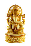 MARBLE STATUE ELEPHANTHEADED HINDU GOD GANAPATHI  SITTING Royalty Free Stock Image