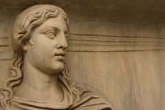 Marble statue face Stock Photos