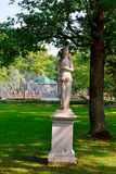 Marble statue and fountain in Peterhof garden, Royalty Free Stock Photography