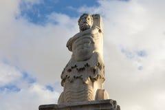Marble statue of a giant imagenes de archivo