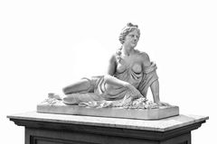 Marble statue of greek goddess Aphrodite isolated on white background. Royalty Free Stock Photo
