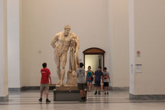 Marble statue of Hercules at the Naples National Archaeological Museum Stock Image