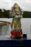 Marble statue of a Hinduism  elephant Stock Images