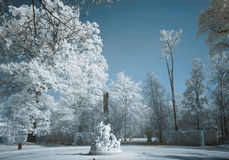 Marble Statue infrared Royalty Free Stock Image