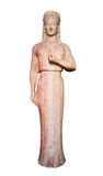 Marble statue of a kore (maiden), 550-540 B.C. Royalty Free Stock Images