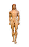 Marble statue of Kroisos Kouros (530 B.C.), found at Anavyssos, Attica. Royalty Free Stock Photo