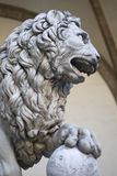 Marble statue of lion, Florence Royalty Free Stock Photo