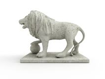 Marble statue of a lion (left view) Stock Image