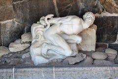Marble Statue Man Snake Stockholm Sweden Royalty Free Stock Images
