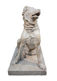 Marble statue of a molossian hound Stock Photo