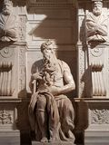 Marble statue of Moses in the church of San Pietro in Vincoli royalty free stock photography