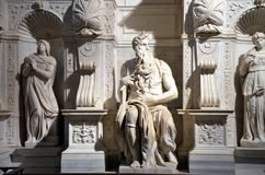 Marble statue of Moses by Michelangelo royalty free stock photography