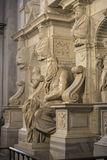 Marble statue of Moses sculpted by Michelangelo in Rome, Italy Stock Images