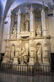 Marble statue of Moses sculpted by Michelangelo in Rome, Italy Royalty Free Stock Image