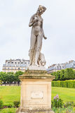 Marble Statue `Nymphe` in Tuileries Garden, Paris royalty free stock image