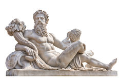 Free Marble Statue Of Greek God With Cornucopia In His Hands. Stock Photo - 74905540