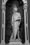 Marble statue in old historical construction Royalty Free Stock Image