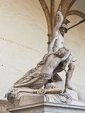 Marble statue at Piazza della Signoria Royalty Free Stock Photos