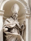 Marble Statue Pope Rome Italy. Marble Statue Pope in Rome Italy stock photo