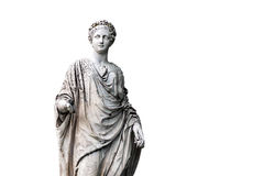 Marble statue of roman Ceres or greek Demeter Stock Image