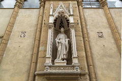 Marble statue of Saint Philip (Guild of Shoemakers) by Nanni di. FLORENCE, ITALY - SEPTEMBER 2016 : Marble statue of Saint Philip (Guild of Shoemakers) by Nanni Stock Photos