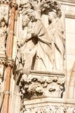 Marble statue at San Marco Piazza Royalty Free Stock Photos