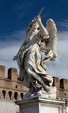 Marble statue from the Sant'Angelo Bridge in Rome Stock Photos