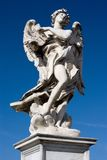 Marble statue from the Sant'Angelo Bridge in Rome Royalty Free Stock Images