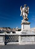 Marble statue from the Sant'Angelo Bridge in Rome Royalty Free Stock Photography