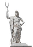 Marble statue of the sea god Neptune Stock Image