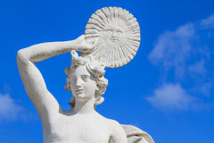 Marble statue with solar disk Stock Images