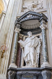 A marble statue of St. Simon in Basilica di San Giovanni in Laterano in Rome, capital of Italy. A marble statue of St. Simon in Basilica di San Giovanni in stock images