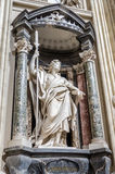 A marble statue of St. Thaddaeus in Basilica di San Giovanni in Laterano in Rome, capital of Italy Stock Images