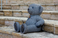 Marble statue of a Teddy Bear Stock Photography