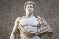 Marble Statue With Nacked Sensual Chest Royalty Free Stock Photography